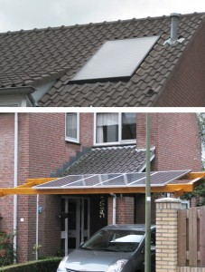Solar carport en zonneboiler