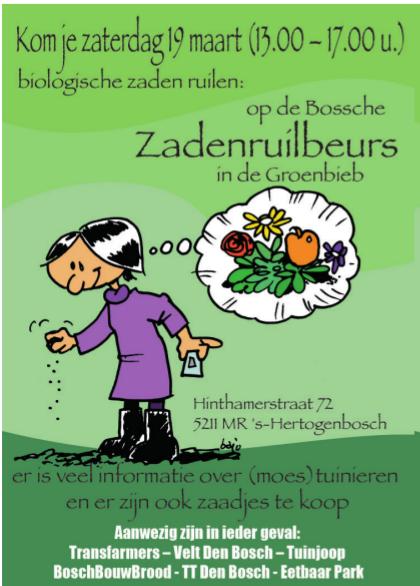 Zadenruilbeurs 2016 GroenBieb Den Bosch