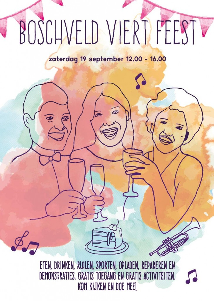 Flyer: Boschveld viert feest