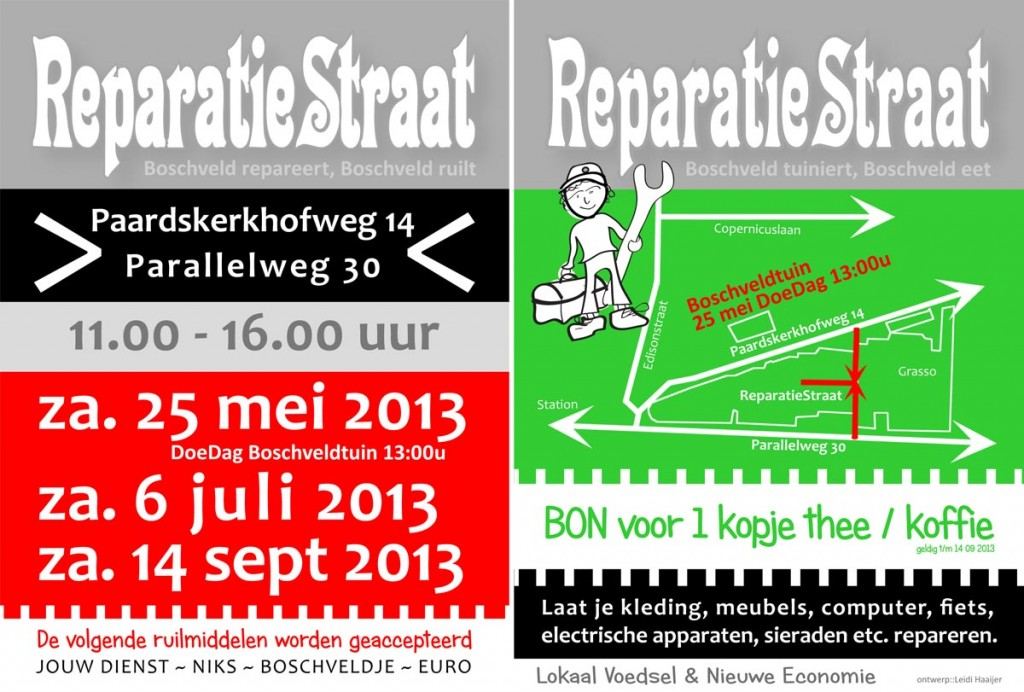 Flyer ReparatieStraat t/m september 2013