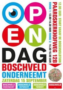Affiche Open Dag Boschveld onderneemt