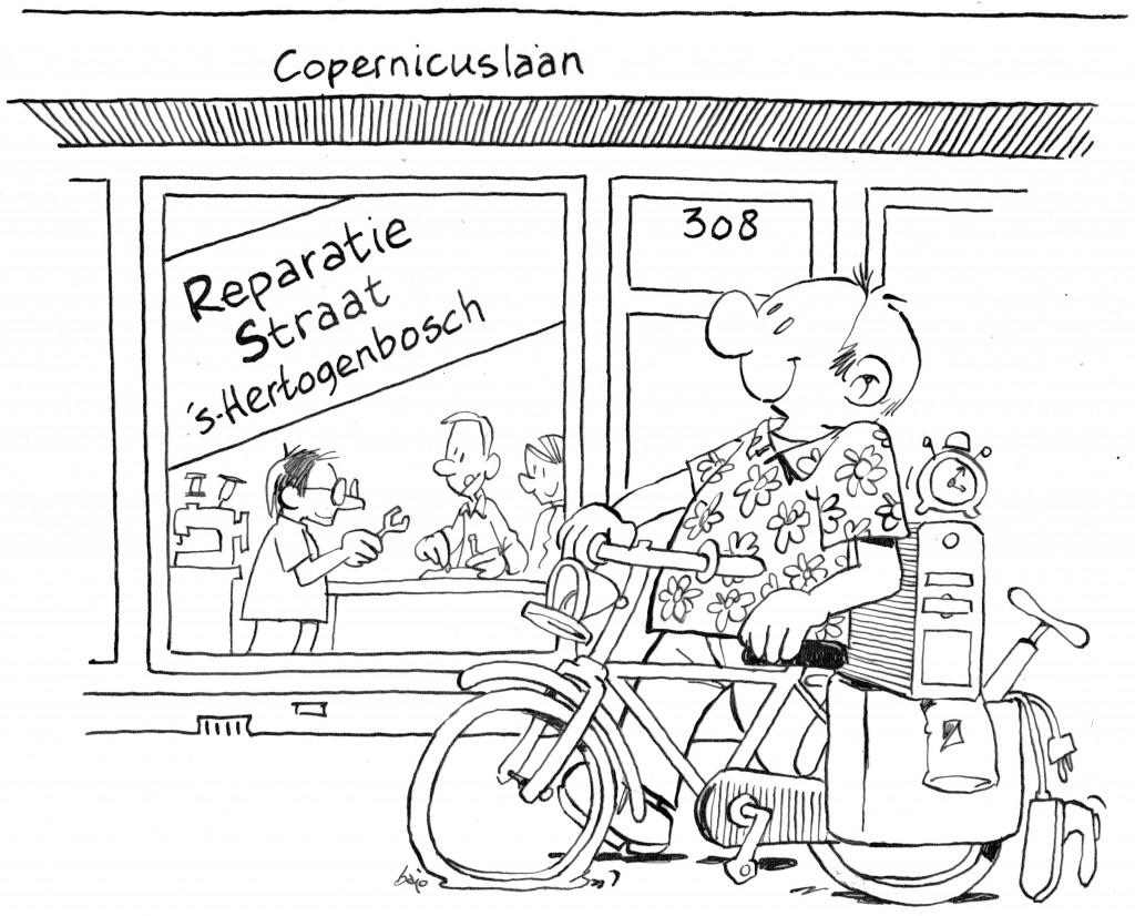 Cartoon: De ReparatieStraat Verhuisd! Bajo